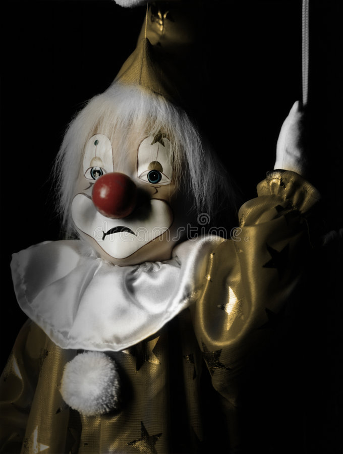 Download Sad Marionette Clown stock image. Image of memories, horror - 8168487