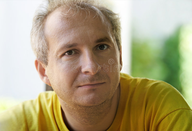 Sad mature man royalty free stock photography