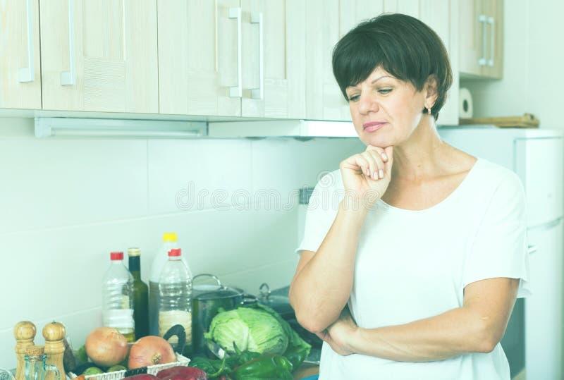 Download Sad mature woman stock photo. Image of female, emotion - 83701506