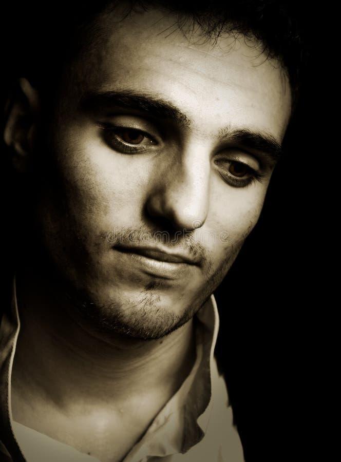 Download Sad Melancholic Man In Vintage Style Stock Photo - Image: 9954736