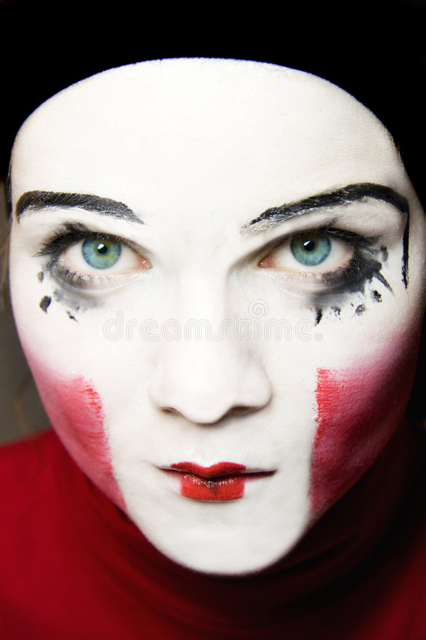 Sad mime royalty free stock photo