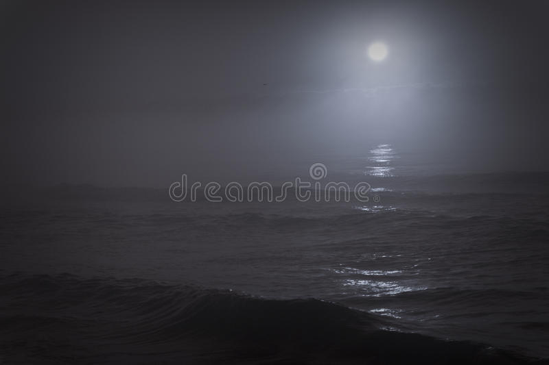 Sad moon royalty free stock photo