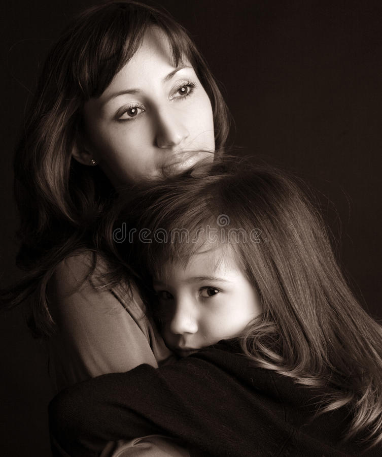 Download Sad Mother And Daughter Royalty Free Stock Photo - Image: 13778225