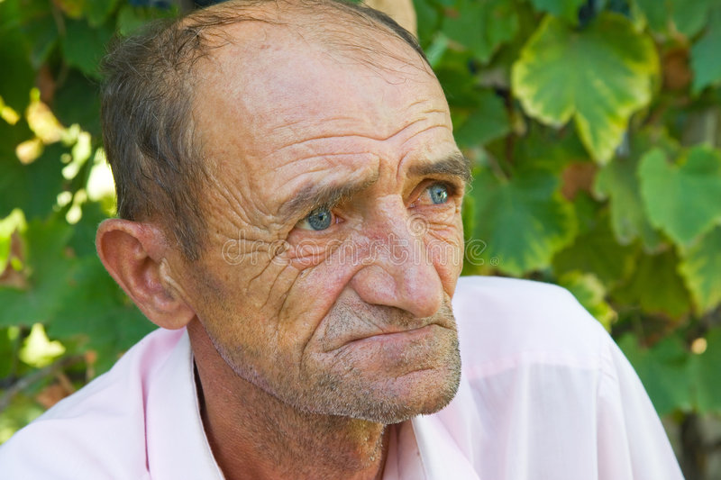 Download Sad old man stock photo. Image of haired, father, lifestyle - 6491410