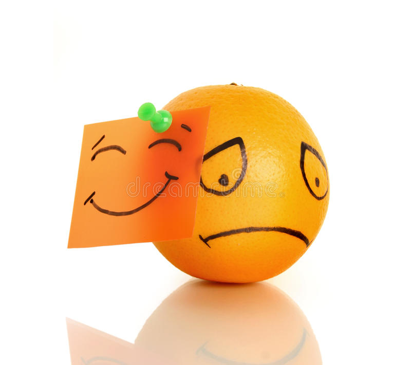 Sad orange royalty free stock photo
