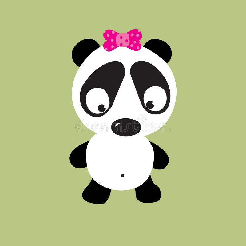 Download Sad Panda stock vector. Image of goofy, clip, adorable - 9987259