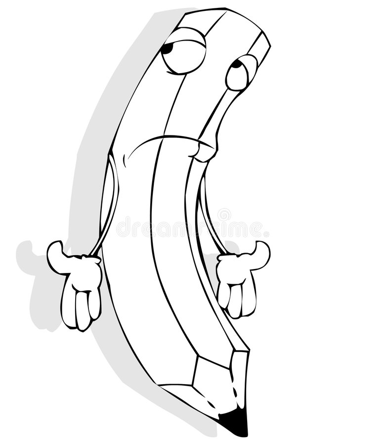 Download Sad pencil stock illustration. Illustration of sadness - 3319058