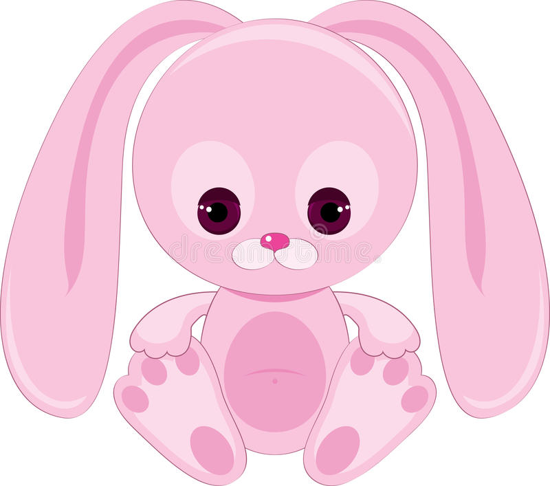 Download Sad pink bunny stock vector. Image of alone, backdrop - 23625417