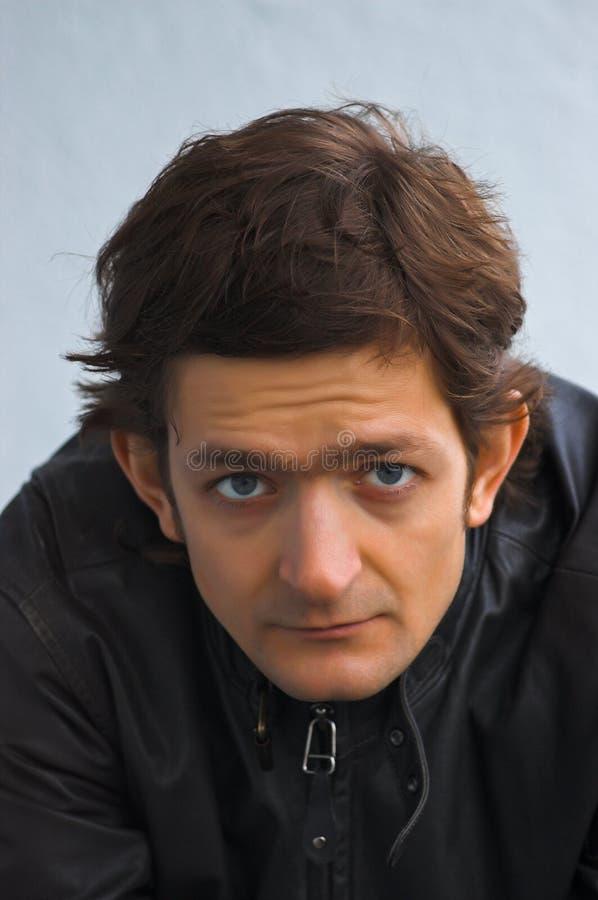 Download Sad portrait stock image. Image of head, sensuality, jacket - 8656379