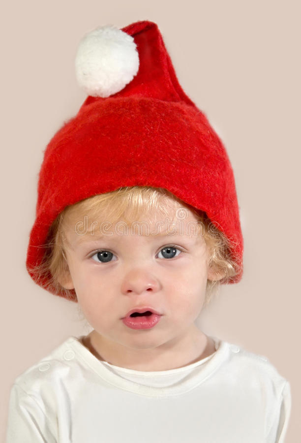 Sad Santa Claus stock photo