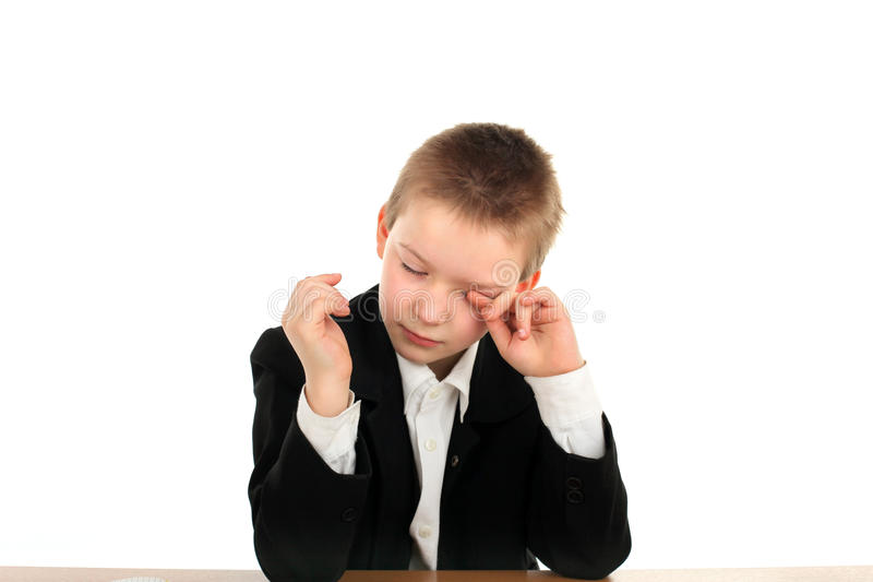 Download Sad schoolboy stock photo. Image of education, books - 23219316