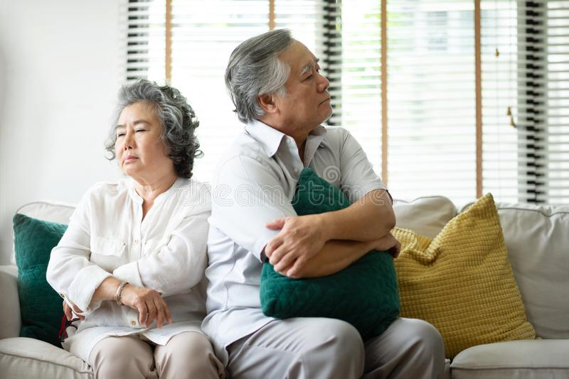 Sad Senior couple having a conflict royalty free stock photos