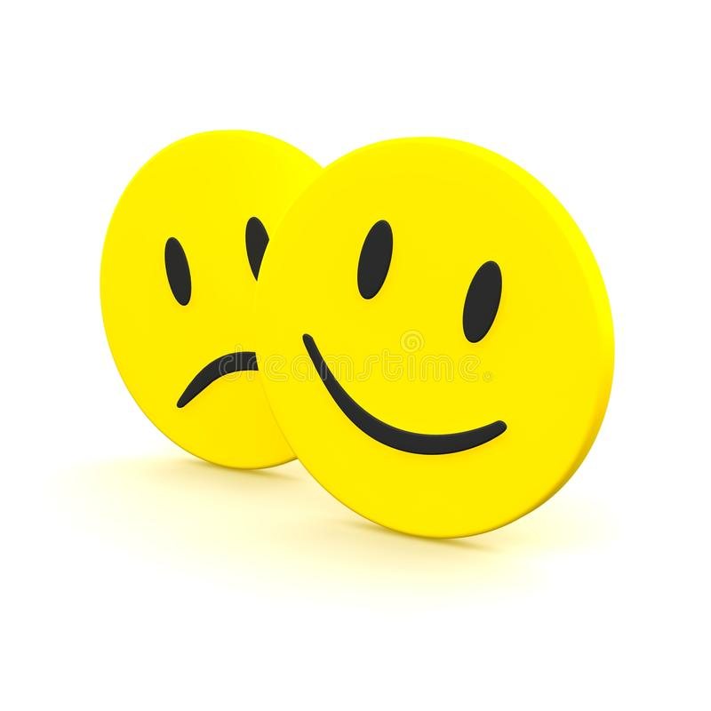 Sad And Smile Emotions Royalty Free Stock Photo