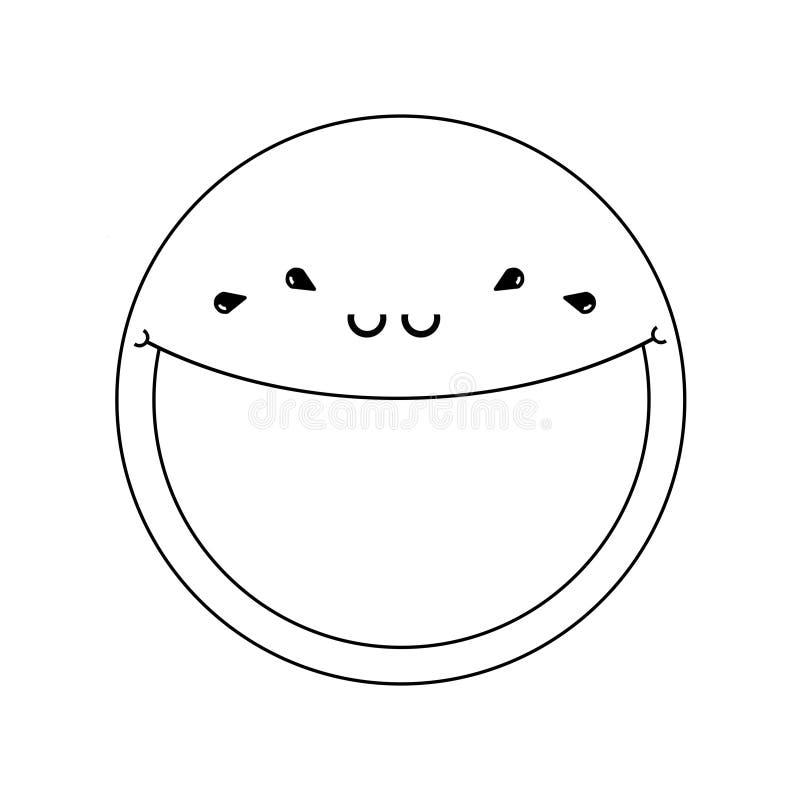 Sad smile illustration stock image