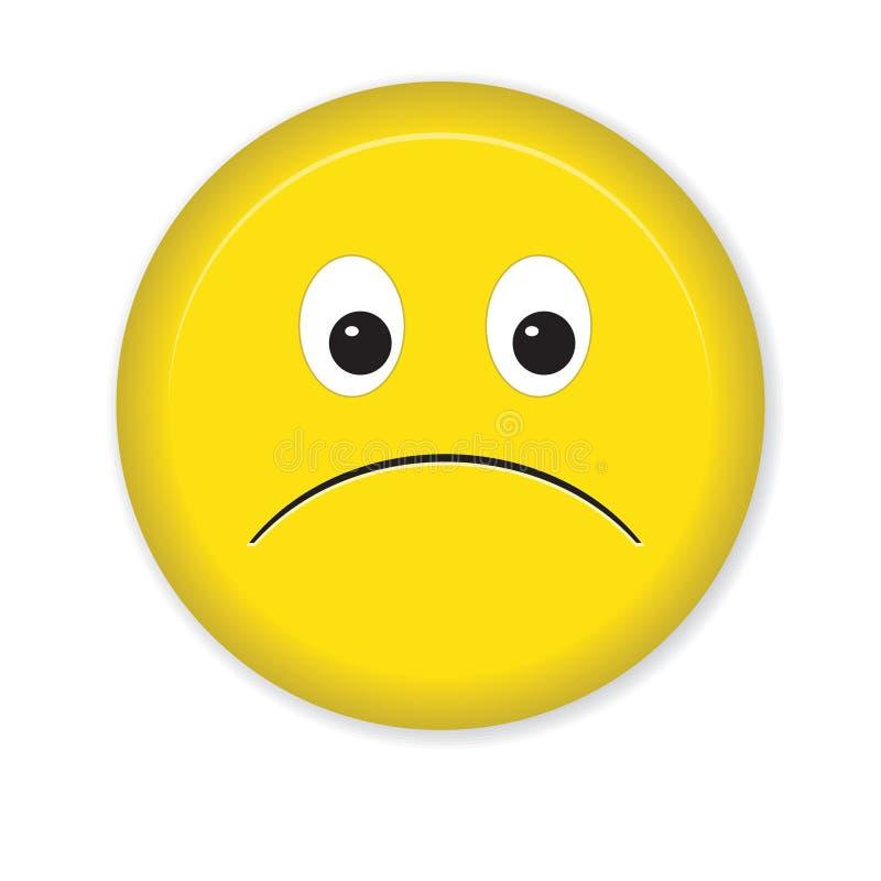 Sad Smiley Icon. Isolated on a white background royalty free illustration