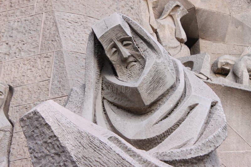 Sad statue stock photo