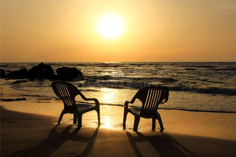 Download Sad sunset on the beach stock image. Image of loneliness - 25266991