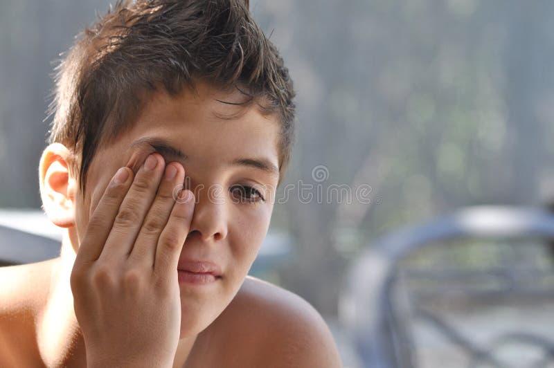 Sad Teen stock photography