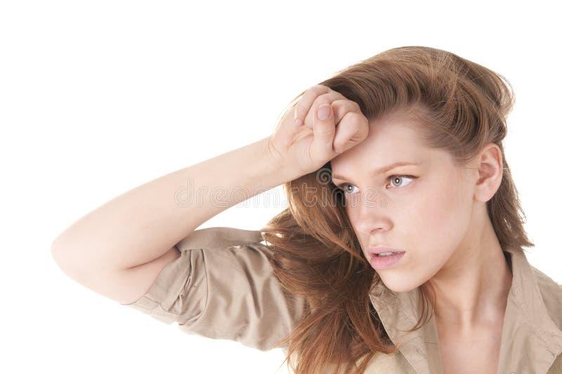 Download Sad Teenage Girl stock image. Image of problem, hold - 20009821