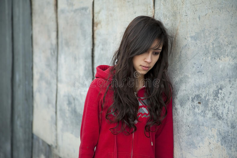 Sad Teenage Girl stock image