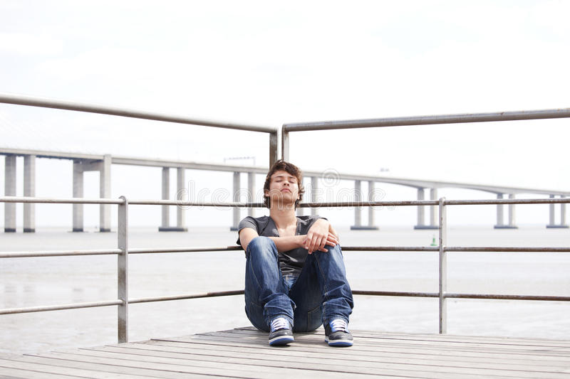 Download Sad Teenager stock photo. Image of hair, expression, outdoor - 26260614