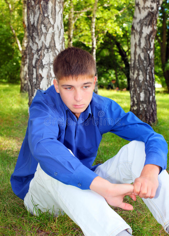 Download Sad Teenager stock image. Image of lonelyness, forest - 27849643