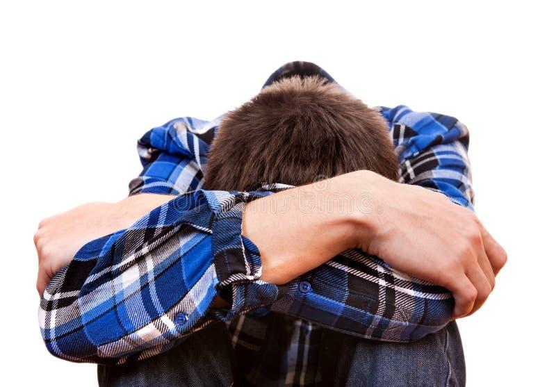 Sad Teenager closeup stock image