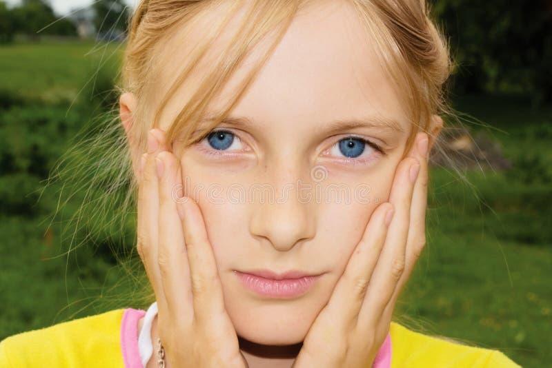 Sad Teenager Girl Stock Image