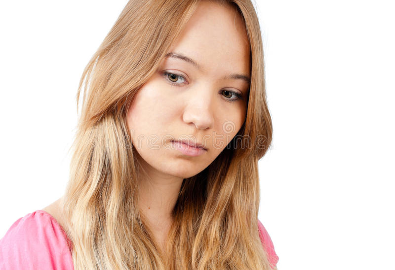 SAD tonårs- för flicka fotografering för bildbyråer
