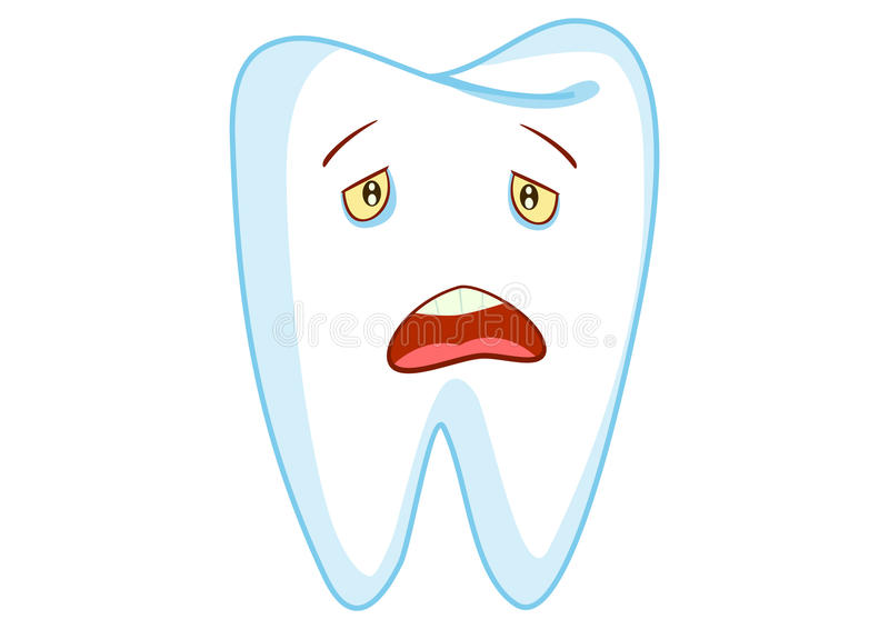 Download Sad Tooth Cartoon Character Illustration Stock Illustration - Image: 17115875