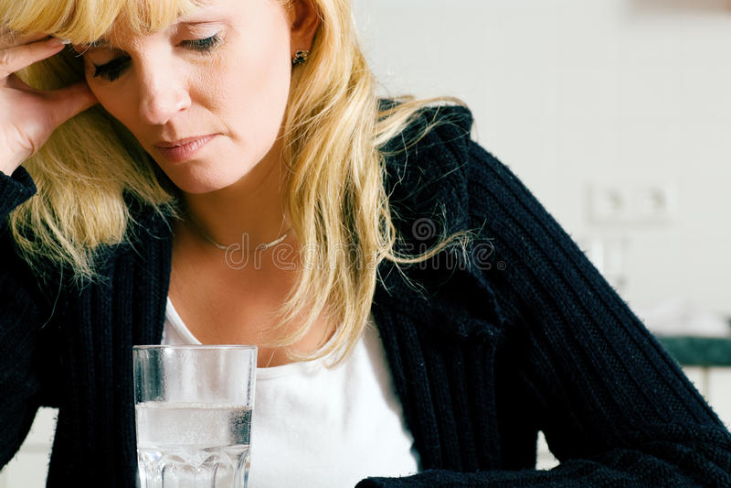 Sad woman stock photography