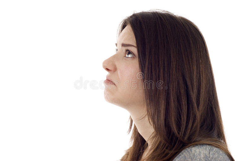 Download Sad Woman stock image. Image of copy, dejected, girl - 14674787