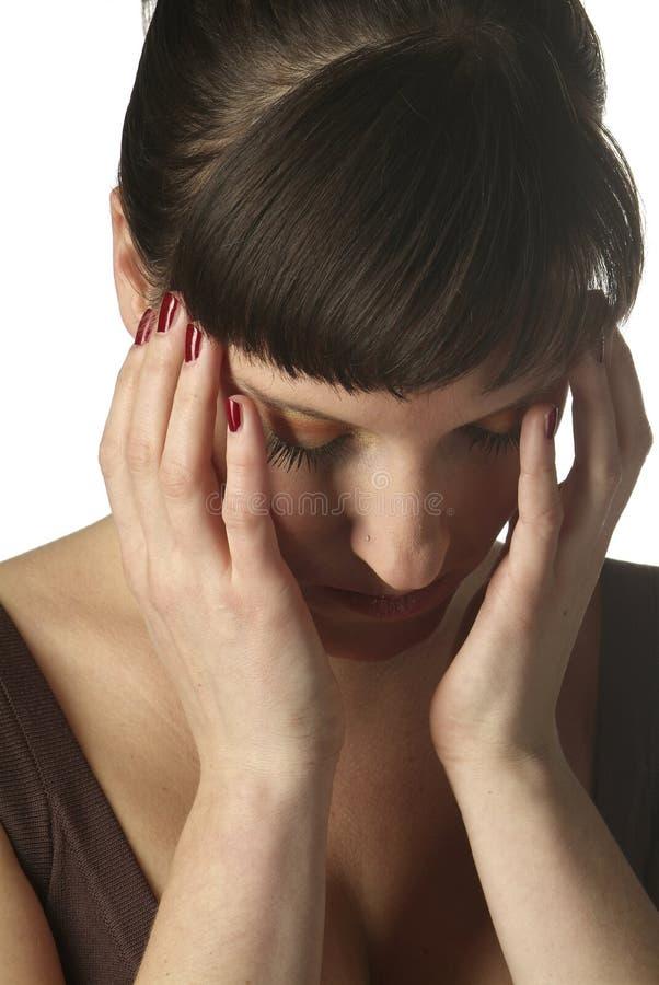 Download Sad woman stock image. Image of fear, brunette, face, devot - 1828971