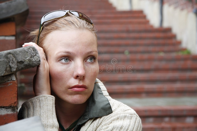 Sad Woman royalty free stock photos