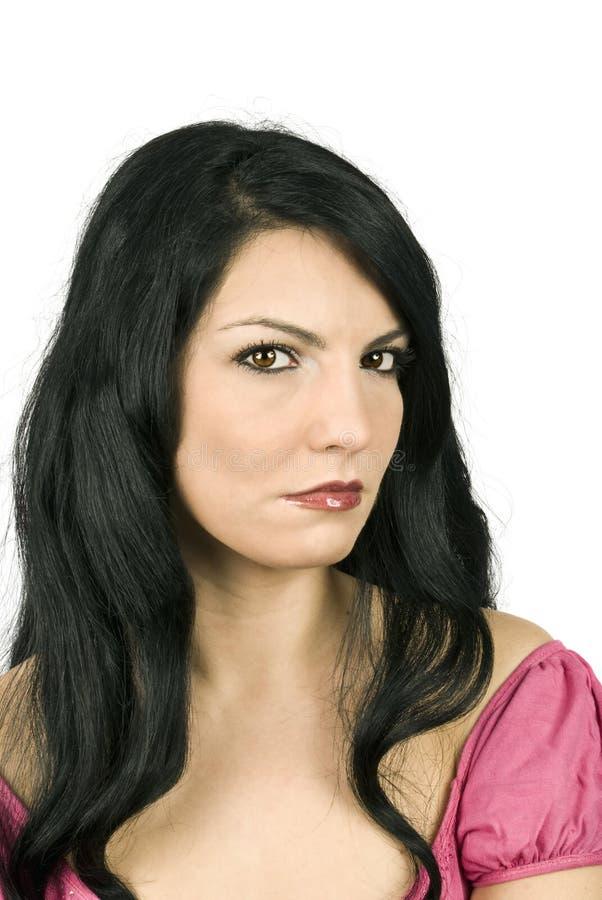 Download Sad woman stock photo. Image of distress, expressive, brown - 8232846