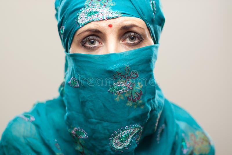 Download Sad woman in burga stock image. Image of adult, thirties - 21611955