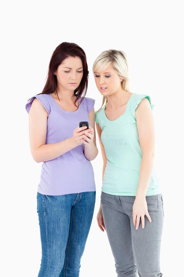 Sad Women With A Phone Stock Photos