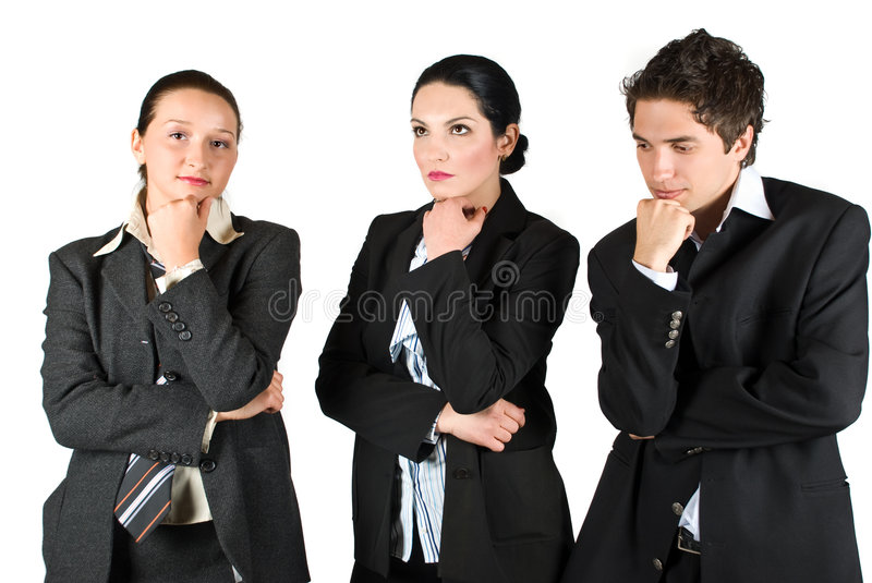 Sad workers royalty free stock photo