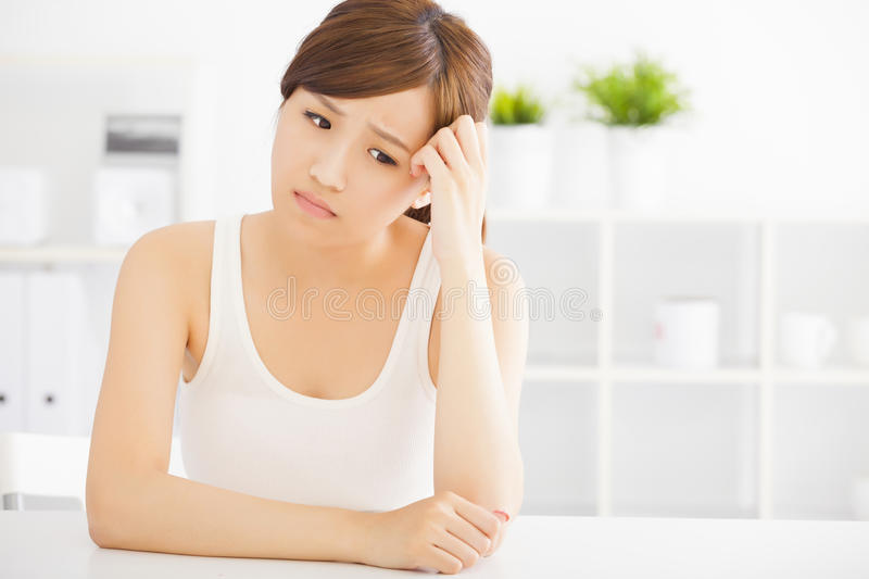 sad young asian woman royalty free stock photography