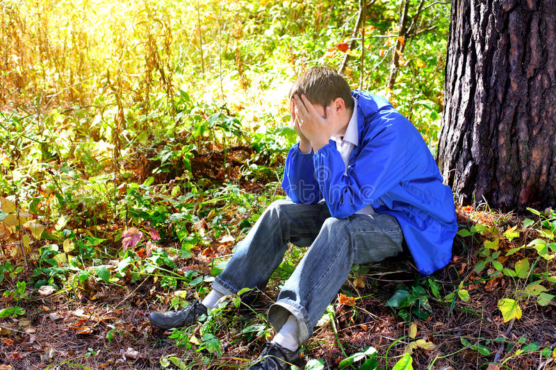 Download Sad young man stock image. Image of outdoor, lonelyness - 26252375