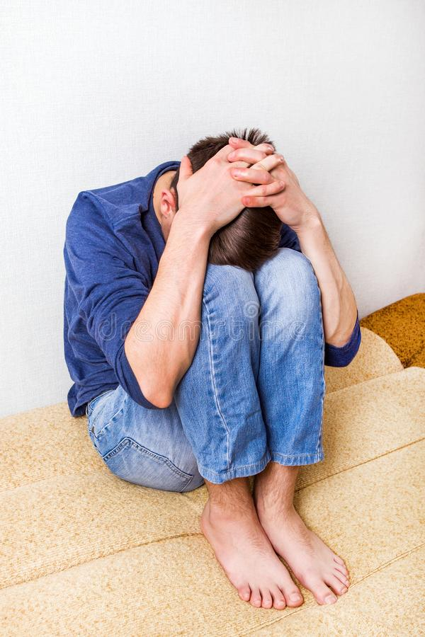 Sad Young Man stock photos