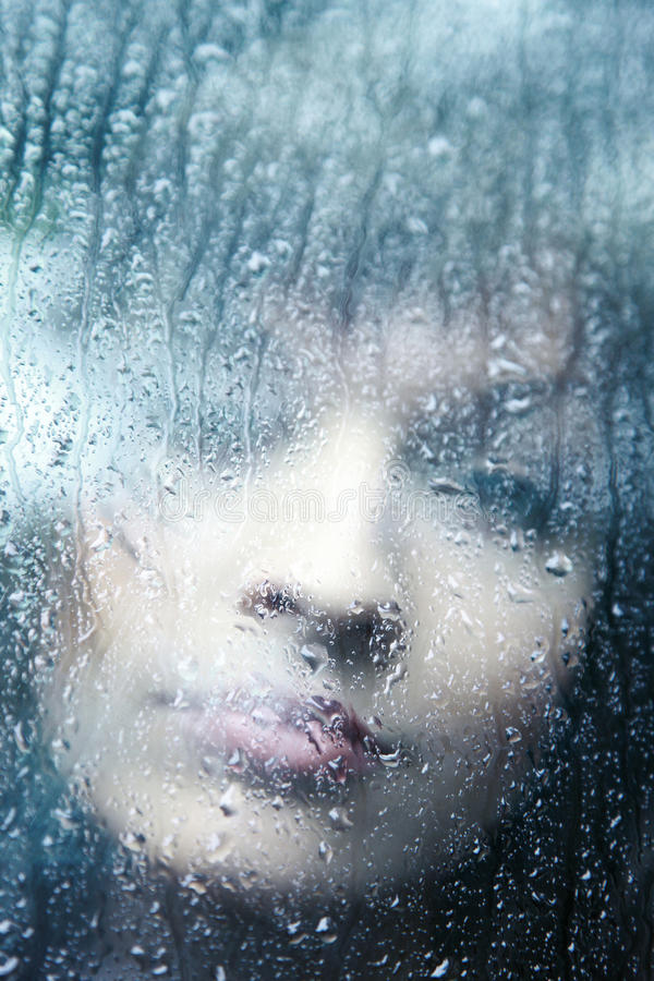 Download Sad young woman stock photo. Image of raindrop, fresh - 17807208