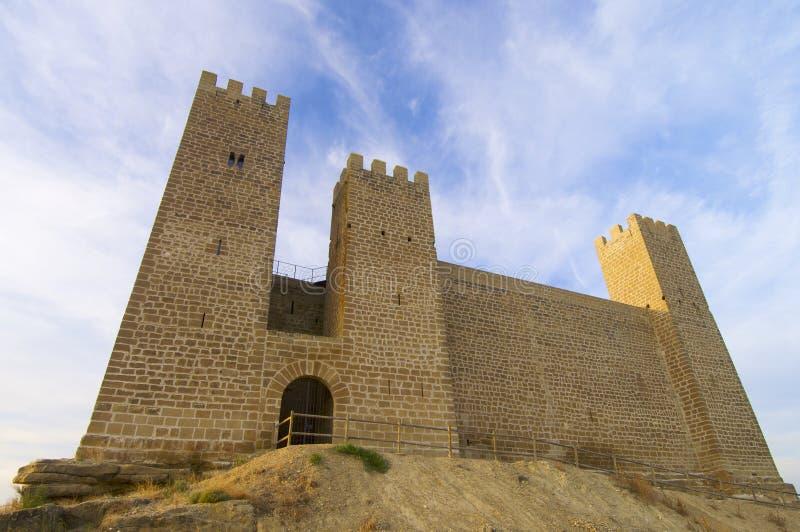 Sadaba Schloss lizenzfreies stockbild