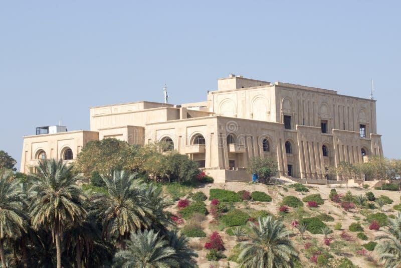 Saddam het Paleis van Babylon stock foto