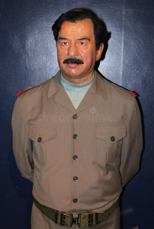 Saddam Hussein at Madame Tussaud's royalty free stock photo