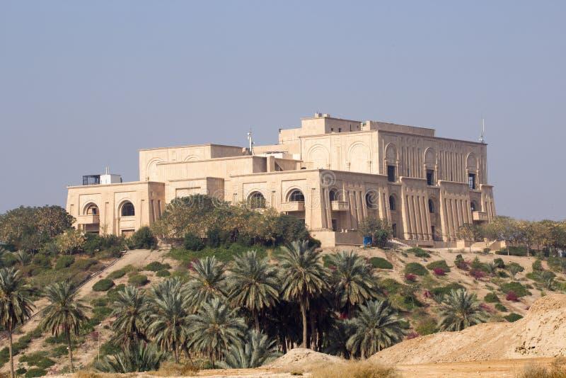 Saddams Babylon slott royaltyfria foton