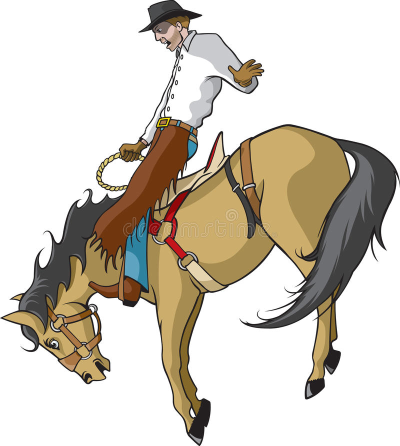 Free Saddle Bronc Rider In Color Royalty Free Stock Photos - 13214058