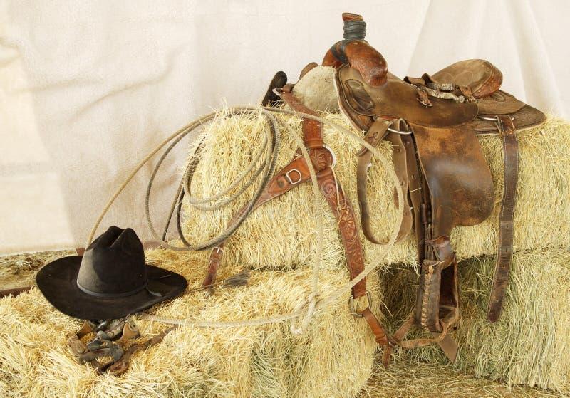 Saddle & Hat stock image