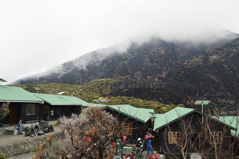 Saddle Hut, Mount Meru stock photos