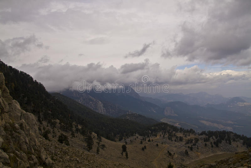 Saddle mountain top Tahtali stock images